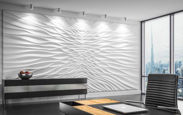 illusion gypsym wallpaper art cyprus wall decor